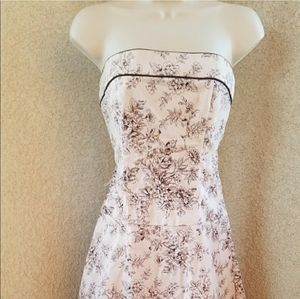 Windsor strapless floral print dress size Small